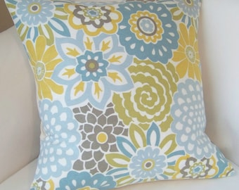 Decorative Pillow Cover Spa Blue Pillow Yellow Cushion Throw Accent