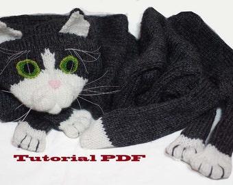 Cat Scarf Pattern PDF file  Knitting a Cat Scarf Pattern Patterns For Knitting
