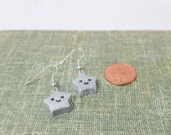 Kawaii Silver Star Earrings