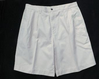 plissé Short devant des hommes, Beige shorts homme - Short robe pour homme, taille 34 shorts homme, n ° 16