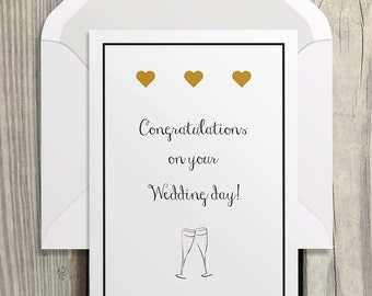 Congratulations Best Wishes Wedding Instant Download Card Printable Greeting Card Just Married Bride And Groom Pdf Instant Download