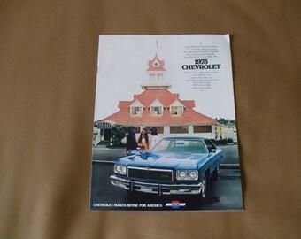 Chevrolet Caprice Classic/Impala/Belleair 1975 Original Sales Brochure