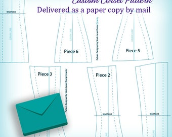 Custom Waist Training and Tight Lacing Corset Pattern - Shipped by Mail