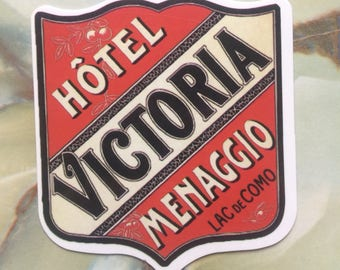 Vintage Inspired Travel Luggage Sticker