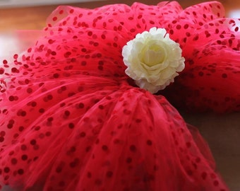 Girls Tutu - Valentine Red Polka Dot Tutu Skirt, Hot Pink Polka Dot Tutu Skirt, wedding, photo pro, flower girl