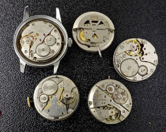 5 Steampunk Watch Movements, Steampunk Supplies, Free Shipping