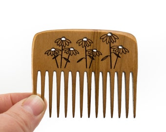 Small Meadow Wooden Comb