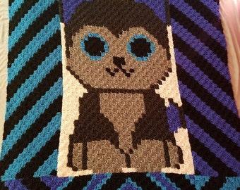 C2C Handmade Crochet Husky Afghan