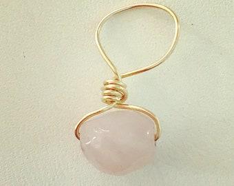 Rose Quartz Loc Jewel, Dreadlock Jewelry, Dread Bead, Loc Bead, Loc Jewelry, Dread Accessories