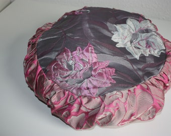 Yoga Pillow-Flower form Yoga Medikissen Meditation Pillow Pink Pink Silver Kundalini Hatha Pouf Yoga Yoga Accessories