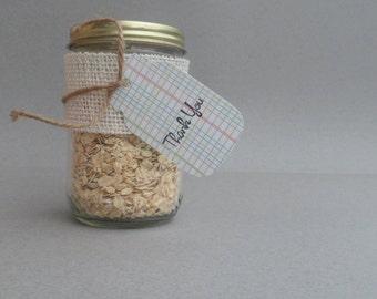 Mason Jar Paper Tags