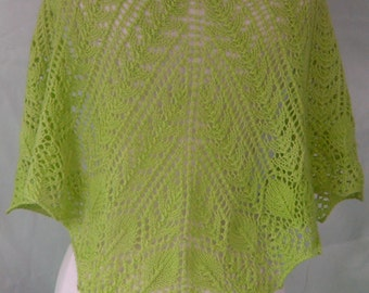 Lace Shawl Designer Handknit Cashmere Merino CASBAH Lightweight Warm and Luxurious