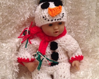 12 inch Doll Clothes, 15  Inch Doll clothes, Snowman Set,outfit,winter doll clothes,Christmas doll clothes,gifts for kids