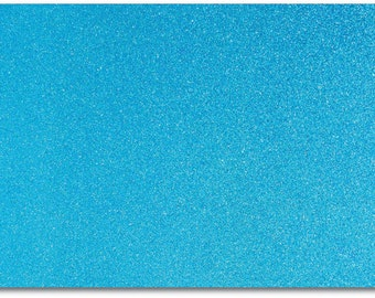 2 x A4 sheets of Premium Dovecraft Topaz Glitter Card 220 gsm