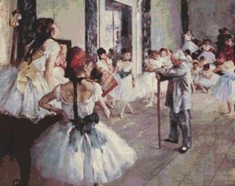 Edgar Degas Germain Hilaire - Counted Cross Stitch Kit - DMC materials - Ballett