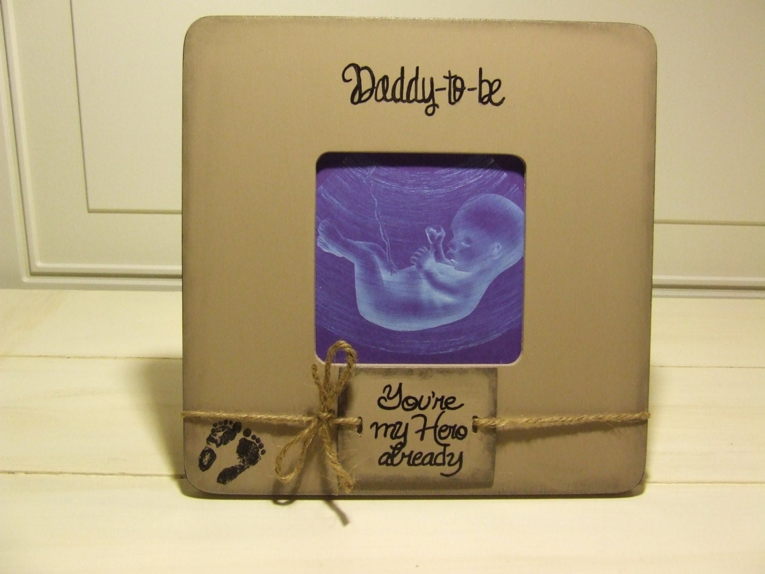 Daddy to be ultrasound frame sonogram gift for father to be request a custom order and have something made just for you jeuxipadfo Choice Image
