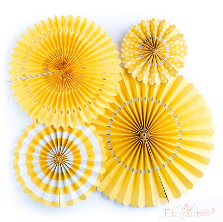 Basics Yellow Pinwheel Backdroppaper Rosette Backdrop
