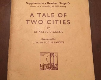 1934 London Book, The Oxford English Course, A Tale of Two Cities