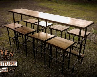 """96"""" Bar Table Set - We custom build to your specs!!"""