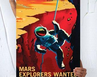 Nasa Mars - Travel Poster