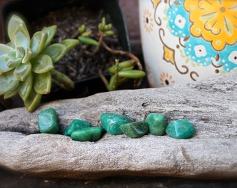 Tumbled Amazonite Stones // Green Stone // Wiccan Altar Supplies //  Natural Amazonite / Smooth Amazonite Stone / Natural Wicca Supply