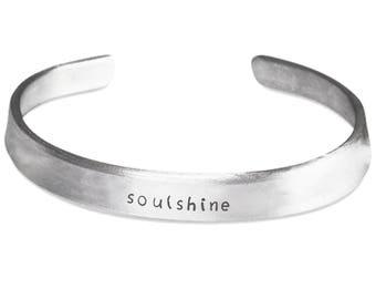 Soulshine Stamped Cuff Bracelet | Pure Aluminum