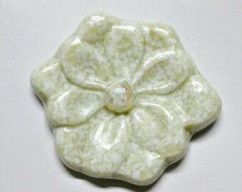 Fused Glass Flower Paper Weight