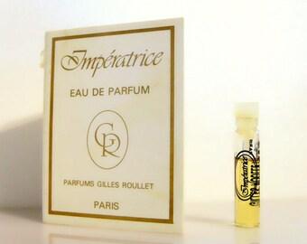 Vintage 1980s Imperatrice by Gilles Roullet 0.03 oz Eau de Parfum Sample Vial on Card PERFUME