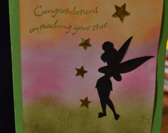Congratulations on reaching your star with Tinkerbell and stars