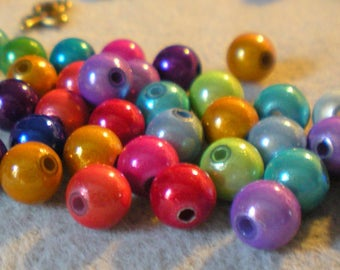 Lot 12 + 2 free magic colors bright 8 mm x 8 mm beads