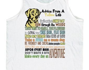 Men's Advice from A Yellow Lab Labrador Retriever Tank Top