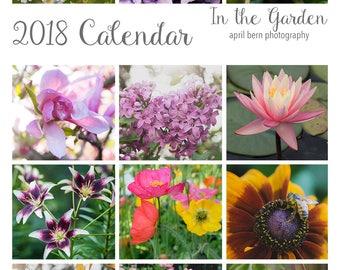 READY TO SHIP, 2018 Photography Calendar, 2018 Desk Calendar, Gardening Gift, 2018 Calendar, Garden Desk Calendar, 5x7 Photo Calendar