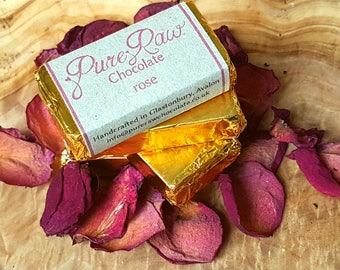 Pure Raw Chocolate - Rose (pack of 10)