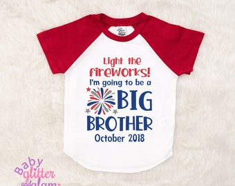 Big Brother Shirt, Pregnancy Announcement, July Pregnancy Announcement, Going to Be a Big Brother, Promoted to Big Brother, Big Brother