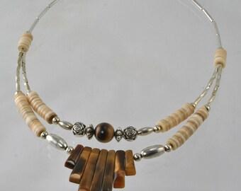 Eat Pray Love - Handmade Brown Tiger Eye Necklace