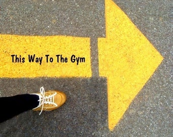 Pop Art Print - This Way To The Gym - Art by Rodriguez