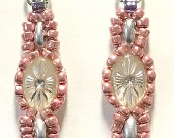 Beaded Earrings-Czech Glass in 4 Variations--(Handmade and Designed)