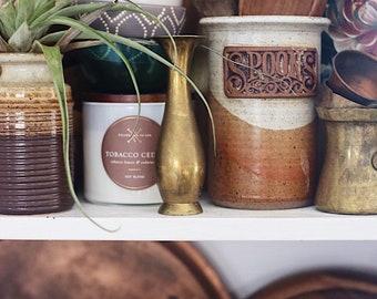 Vintage Brass Bud Vase / Vintage Brass Vase / Brass Vase / Vintage Mother's Day Gift / Gift for her / Indian Brass Vase