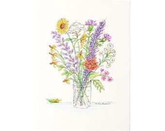 5x7 Wildflower Print (Ivory)