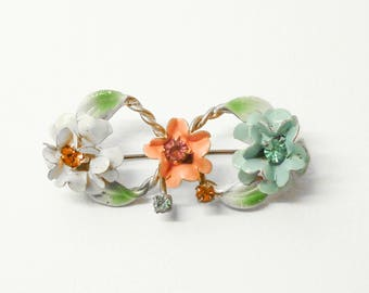 Thirties Bow Bouquet Brooch