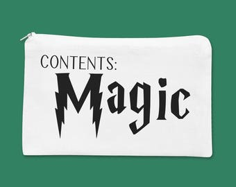 Magic Make up Bag | Harry Potter Inspired Makeup bag | Cosmetic Pouch | Bridesmaid gift | Bridesmaid makeup bag | Cosmetic Bag | Makeup Bag