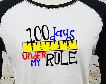 100 Days of School/ Teacher T-Shirt/ 100th Day of School Shirt/ Teacher Shirt/ Teacher 100 Days Shirt/ 100 Days School Party/ School Shirt