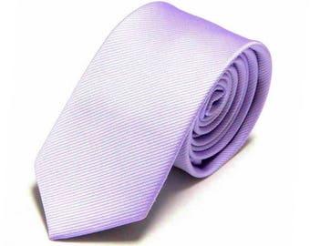 "Light Purple Tie Purple Wedding Necktie Pale Orchid Lilac Groomsman Neckties Slim 2.4 "" Groomsmen Best Man Usher Neckties Groom Ties"