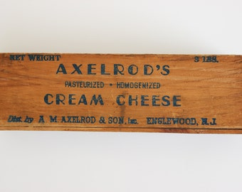Vintage Wooden Axelrod's Cream Cheese Box