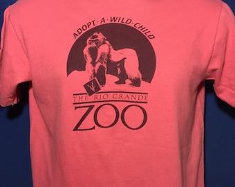 Vintage 1980s Rio Grande Zoo Gorilla t shirt 80s cute monkey