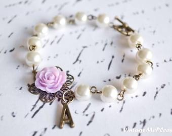 Bridesmaids Bracelet, Flower Girl Bracelet, Initial Bracelet, Flower Girl Gift, Bridesmaids Gifts, Infant Bracelet, Wedding Gifts, Bracelet