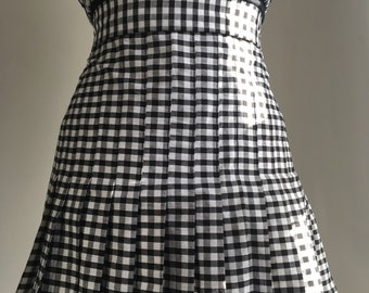 Pleated Gingham Skirt | Mini | Short