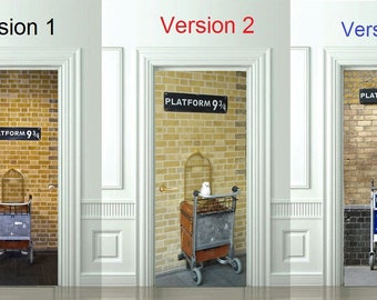 3D Door Wall Sticker *Platform 9 3/4* /Harry Potter Decal/ & Hogwarts sticker | Etsy