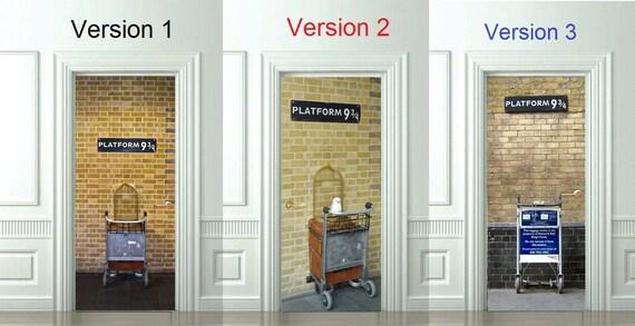 3d t r wandaufkleber gleis 9 3 4 harry potter aufkleber. Black Bedroom Furniture Sets. Home Design Ideas