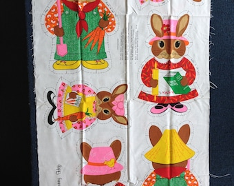 Bunny Hop - Sewing Fabric Panel